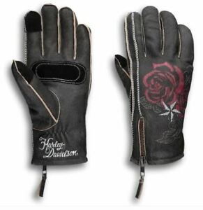 HARLEY-DAVIDSON WOMEN'S CANT LEATHER GLOVES