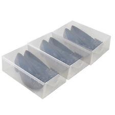 3x Cajas Almacenaje Zapatos PP368T Apilable Plegable Organizador Transparente