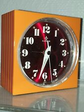 Réveil mécanique Vintage FLEURON Orange Clock Japan  Design 1970