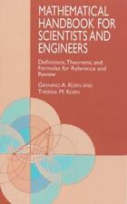 MATHEMATICAL HANDBOOK FOR SCIENTISTS AND ENGINEERS DEFINITIONS, Korn, NEW