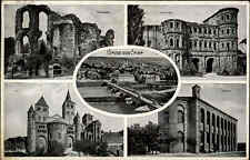 Trier 1935 Kaiserpalast Porta Nigra Dom Basilika ua. Saar Dt. Reich Briefmarke