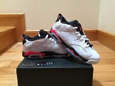 2015 Nike Air Jordan 6 VI Retro Low BG SZ 7Y White Black Infrared 768881-123