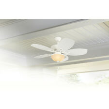 Harbor breeze glass ceiling fans ebay 44 white downrod close mount indooroutdoor tropical ceiling fan w light aloadofball Image collections