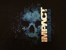 TNA Wrestling Impact Logo T-Shirt XXL 2XL Skull Blue