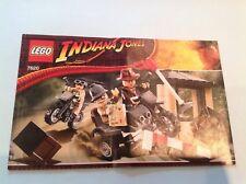 Lego Indiana Jones Manual De Instrucciones Solo 7620 Motocicleta Chase