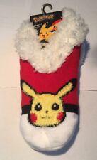 Pokemon Go Socks Pikachu Cozy Fur Lined Slipper Socks Anti Slip 9-11 Slippers