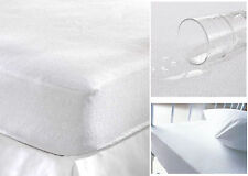 Waterproof Terry Towelling Mattress Protector Fitted Cotton Soft Cover Topper