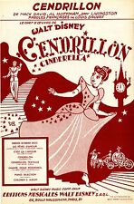"""CENDRILLON"" Partition originale du film ""CENDRILLON"" de Walt DISNEY"