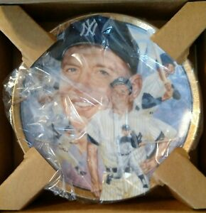 Mickey Mantle Numbered Plate Hamilton Collection 23K gold 1993