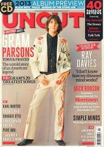 MAGAZINE UNCUT 2013 # 189 - GRAM PARSONS/MICK RONSON/FAMILY/RAY DAVIES/COCKER
