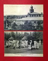 2 x AK DRESDEN 1911 Intern. Hygiene Ausstellung mit Abyssinisches Dorf  ( 51774