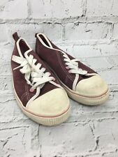 Next Women's Sneakers Lace Up Burgundy Purple Suede Feel Trainers Size UK 7 US 9