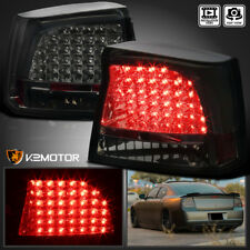 2005-2008 Dodge Charger LED Tail Lights Rear Brake Lamps Smoke Replacement