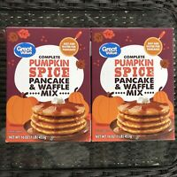 Pumpkin Spice Pancake & Waffle Mix by Great Value (2 Boxes) 16 oz. Each = 32 OZ
