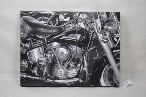 Cannonball Run print canvas old vintage Harley artwork E. Barton Photo EPS21821