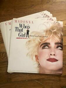 MADONNA Wh's That Girl lot of 21 2-sided promo display album flats