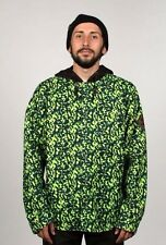 2016 NWT MENS 686 PARKLAN ALOHA BONDED JACKET $100 L lime black snap closure