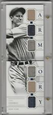 2016 National Treasures * LOU GEHRIG * 6X Game Used Relic Booklet ARMORY # 7/25