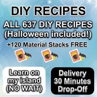 ALL COMPLETE 637 DIY Recipes cards + Free Materials ✨ Animal Corssing Horizons ✨