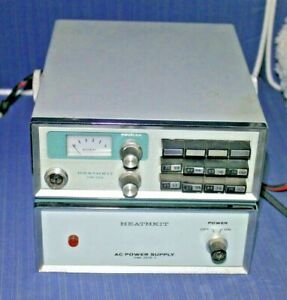 HEATHKIT HW-202  2 METER TRANSCEIVER AND HWA-2036-3 POWER SUPPLY - TESTED!