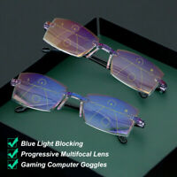 Blue Light Blocking Reading Glasses Progressive Multifocal Presbyopia Eyeglasses