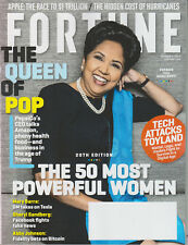 FORTUNE MAGAZINE OCTOBER 2017 INDRA NOOYI PEPSICO CEO - 50 MOST POWERFUL WOMEN
