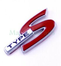 "ACURA CL TL RSX New Chrome Red ""TYPE S"" Emblem Rear Trunk Badge DC5 K20 K20A"
