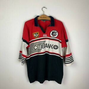 NORTH SYDNEY BEARS HOME RUGBY SHIRT 1995 VINTAGE JERSEY SIZE XL-2XL
