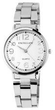 Excellanc Damenuhr mit Edelstahlarmband Armbanduhr Uhr weiß 180722000015
