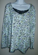 JH Collectibles woman's Foral Embellished Lace Top Shirt Blouse Size 2X