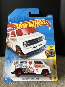 2021 Hot Wheels - Custom '77 Dodge Van - HW Art Cars 4/10; 65/250 -Treasure Hunt