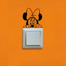 Minnie  Mouse Wall Sticker Switch Vinyl Decal Funny Lightswitch Kids Room DIY
