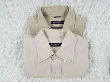 Lot of 2 Nautica Short Sleeve Button up Shirts Mens Size Medium