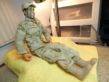 """Power Team Marine 12"""" Action Figure Lightly Played with. DRESSED w/CAP No Gear"""