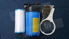 "10"" x 4.5"" Whole House Rain Tank Water Filter System 5 Mic Big Blue S/S Bracket"
