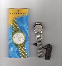 orologio Ottimo Japan,bracciale inox, donna, diametro 2 cm- resist. acqua 30