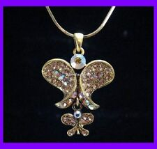 BUTTERFLY GOLDEN RHINESTONE NECKLACE CHOKER PENDENT