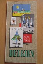 Reiseprospekt Belgien Ardennen Maas 1950er Jahre ,12 Seiten