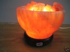 Himalayan Rock Salt Crystal Ion Bowl  Lamp       (983)