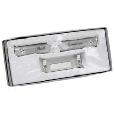 Personalised Silver Birth Certificate Holder, Engraving On The Holder & Stand