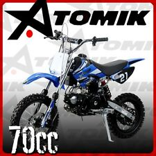 NEW ATOMIK MOTO X 70CC MOTOR PIT DIRT BIKE MOTOCROSS TRAIL TERRAIN MOTORBIKE MX