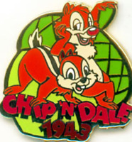 Disney Pin 380 DS Countdown to the Millennium Series #82 Chip & Dale 1943