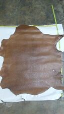 Leather Calfskin Top quality Calf leather Shiny Tawny Ostrich 4 Sq.Ft.3.oz