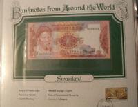 World Banknotes Swaziland 1 Emalangeni 1974 P 1a UNC Prefix H