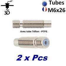 2 x Pcs Tubes M6 X 26mm avec PTFE Extrudeuse V5-V6 Filament 1.75mm imprimante 3D