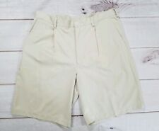 NIKE Golf Fit Beige Khaki Pleated Athletic Golf Casual Shorts Mens 36