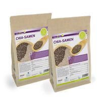 Vita2You Chia Samen 2 x 1kg Zippbeutel - Salvia Hispanica - Premium Qualität
