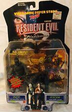 RESIDENT EVIL 2 Platinum HUNK & ZOMBIE action figure 2 Pack MOC 1999 Toy Biz