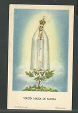 New listing Holy card antique de la Virgin de Fatima image pieuse santino andachtsbild