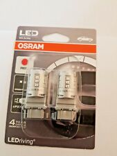 Osram LED Brake Light Bulbs Red  P27/7W Wedge 12v 3W 3547R-02B